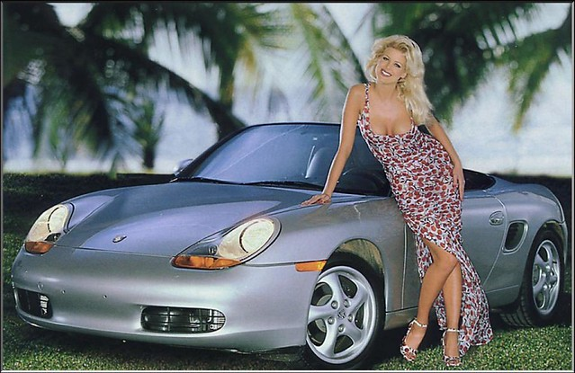 photo of Victoria Silvstedt Porsche Boxster - car