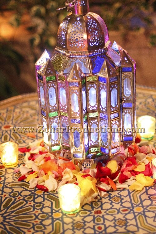 Moroccan Themed Centerpiece Zohar Productions An Award