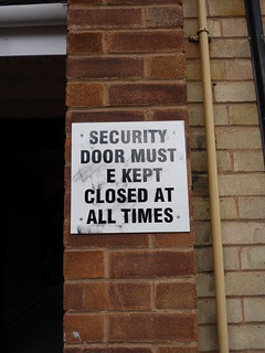 Security Door sign | by lydia_shiningbrightly