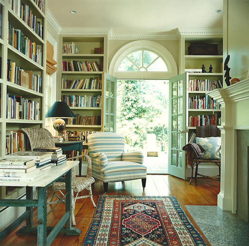 Traditional Study Room: From Fragile Bird {traditional Modern Living Room / Study