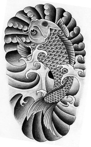 Japanese koi fish tattoo designs 1 1 douglas smith for Japanese coy fish tattoo