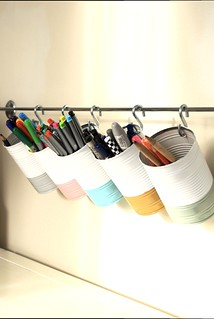 Tin can pen and pencil storage | by wrongdecade