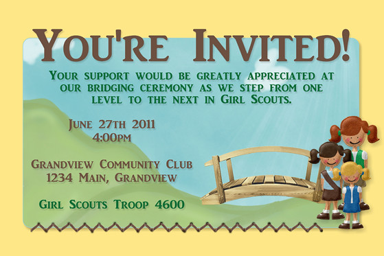 Girl Scouts Bridging Ceremony Invitation | Matches my ...