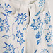 blue and white floral print jeans  DIY