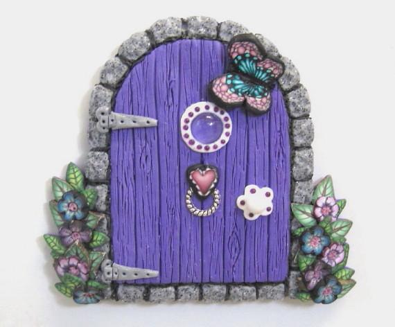 Purple fairy door magnet sold patsparaphernalia flickr for White fairy door