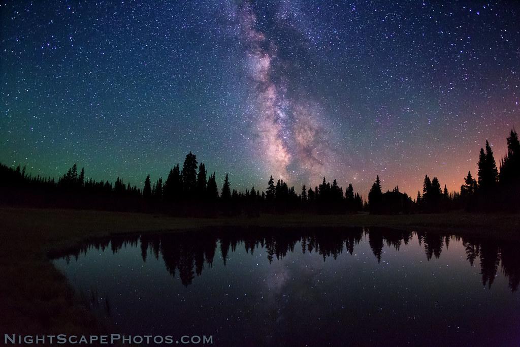 Celestial Reflection Alpine Wilderness Milky Way Stars