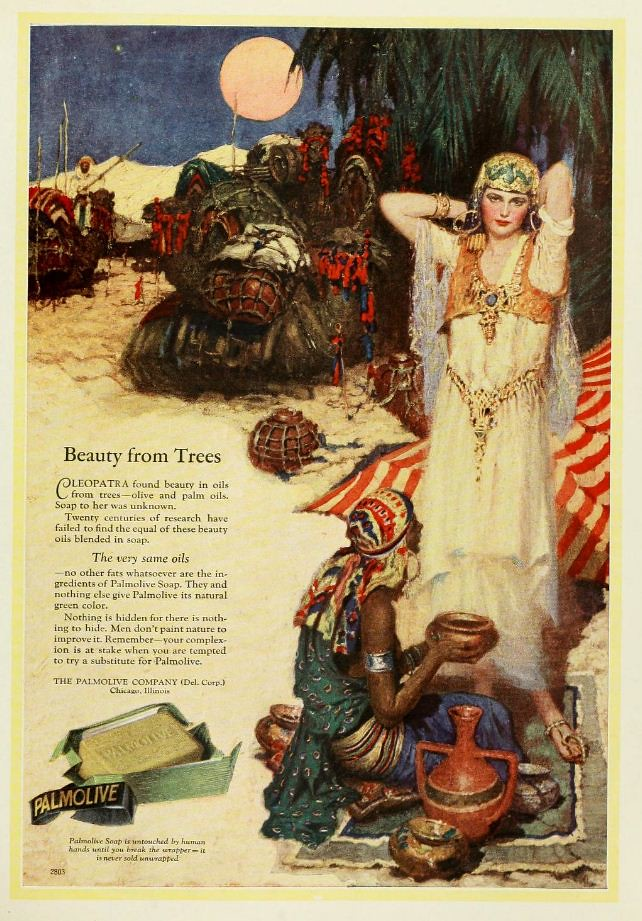 Vintage Advert For Palmolive Soap Cleopatra Theme In Colo