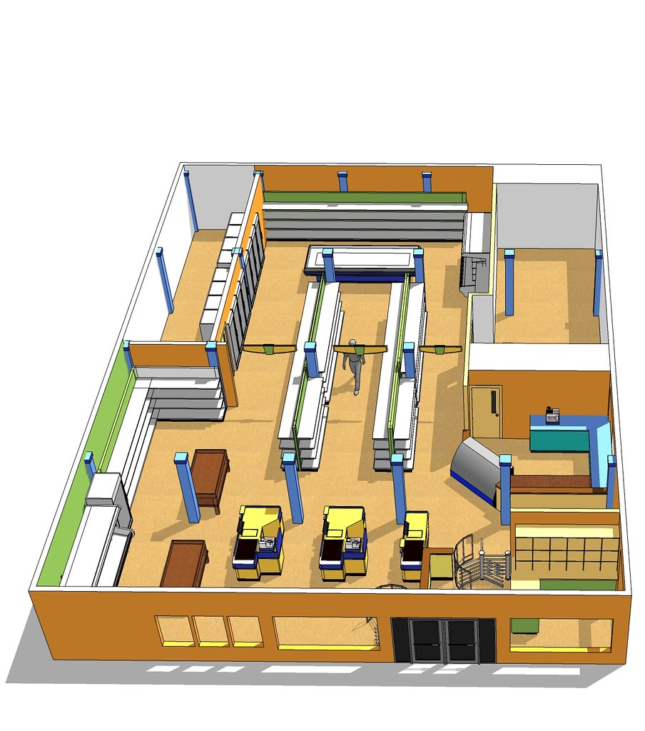 Market space planning interior market design custom ma for Store layout design free