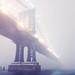 Manhattan Bridge in Blizzard, New York City