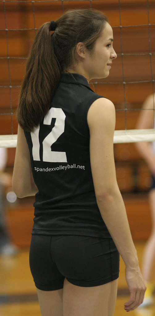 Black Spandex Volleyball Shorts  Jshmoe84  Flickr-4120