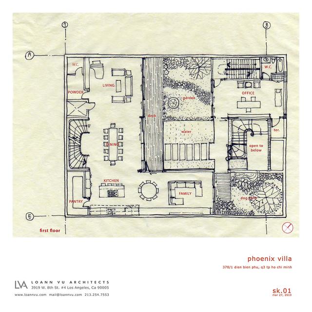 Phoenix Residence Ground Floor Plan Sketch Flickr