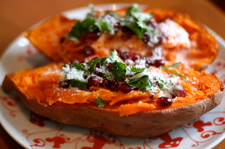 Sweet Potato with Pomegranate, Coconut and Lime | by Tasty Yummies