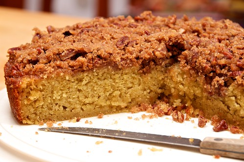 Pecan-Peach Cornmeal Cake | I had bought some peach nectar ...