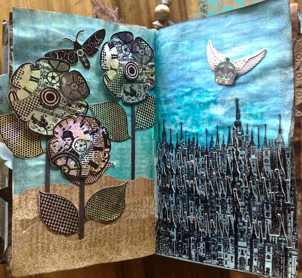 Altered book pages 9 10 So as usual Flickr has