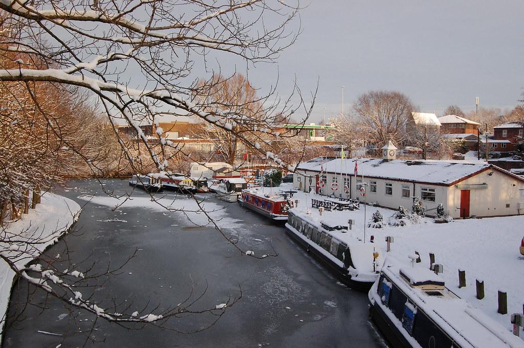 Icy Bridgewater Motor Boat Club By Sue Barratt
