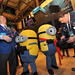 The Minions talk with traders at the NYSE