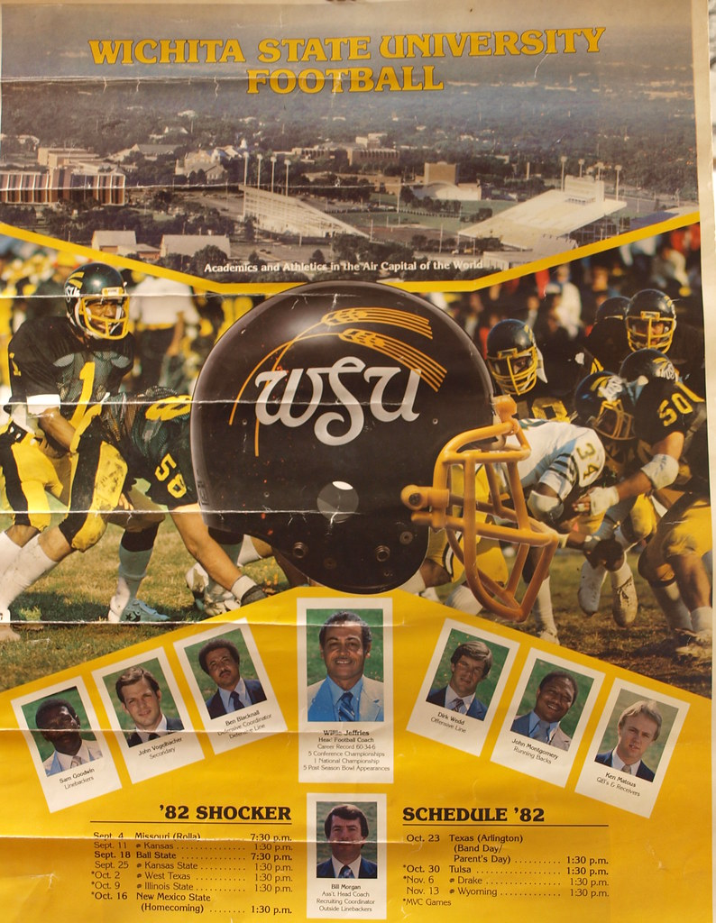 Football Poster | 1982 Wichita State University football ...