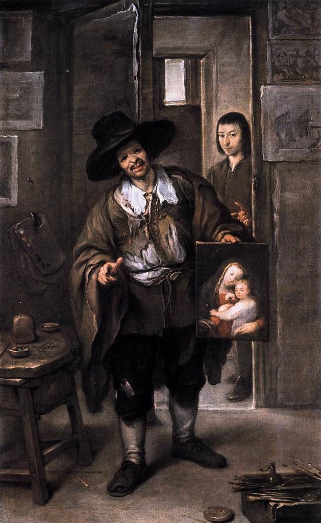 José Antolínez, El pintor pobre, también llamado El vended