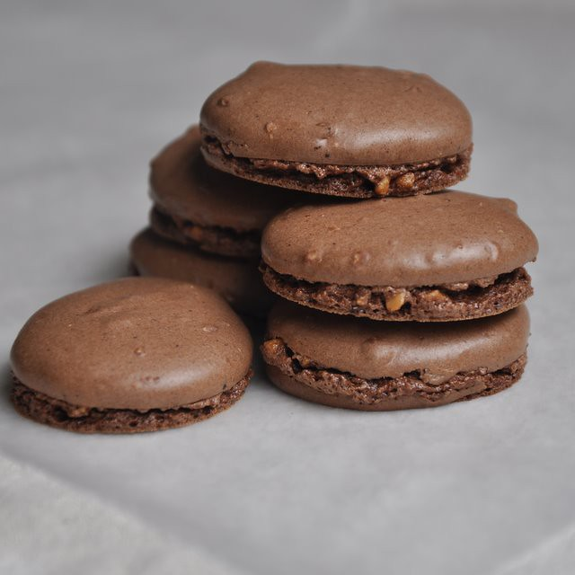 Chocolate-Filled Chocolate Macarons (The French Way) Recipe ...