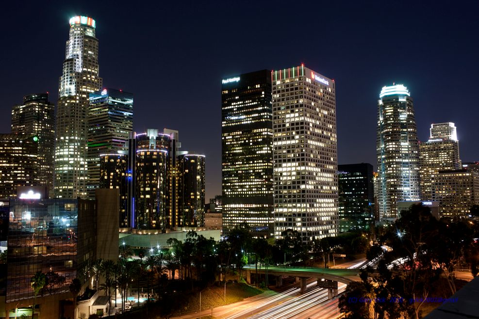 Downtown Los Angeles California Buildings At Night Flickr