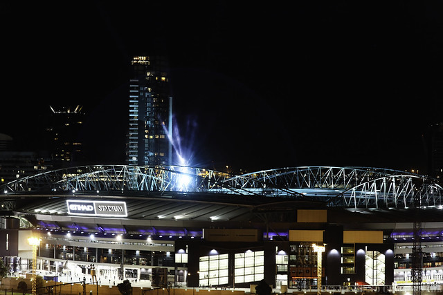Etihad Stadium in Melbourne hosted some serious Rock amp Roll last night    Etihad Stadium At Night