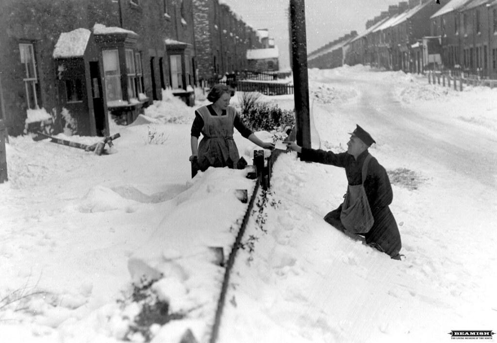 Postman Delivering Letters In Deep Snow Stanley Crook 1