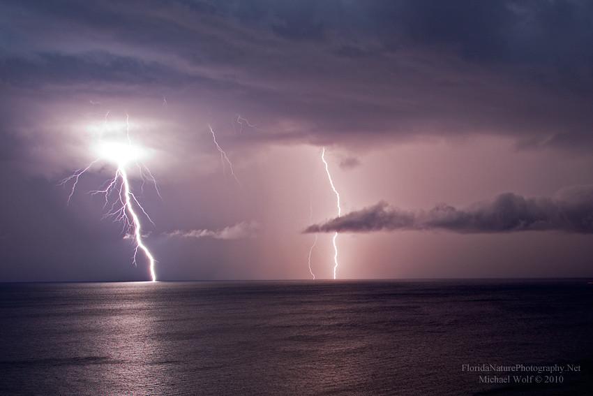 Beach And Ocean Storm: Atlantic Ocean Lightning Storm Over Pompano Beach _2238