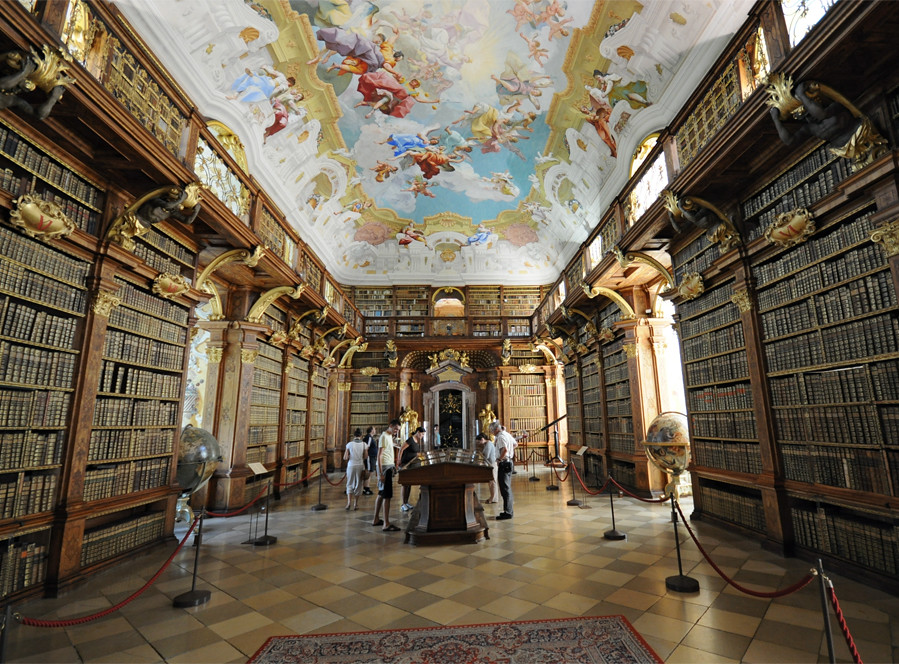 Melk Abbey The Library  Melk Abbey Or Stift Melk Is An-2401