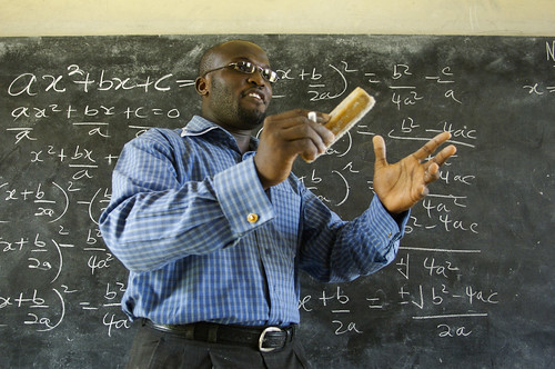 Winston Mills-Compton teaches a class in mathematics at the Mfantsipim Boys School in Cape Coast | by World Bank Photo Collection