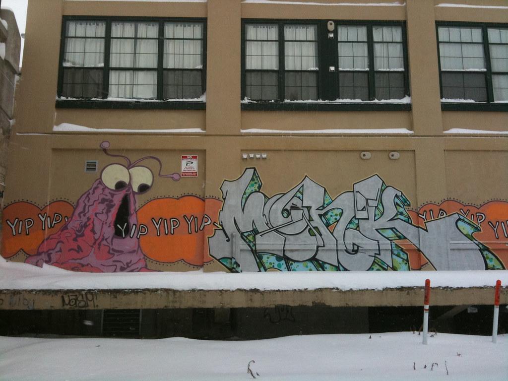 university park lofts graffiti mural worcester  ma