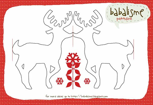 deer garland pattern | by babalisme