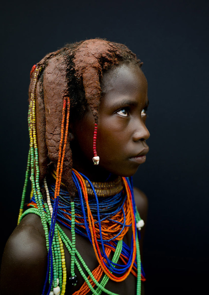 Mumuhuila Girl Angola She Made Her Traditionnal