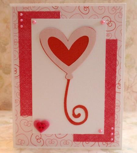Handmade Cards Hearts Heart Balloon Handmade