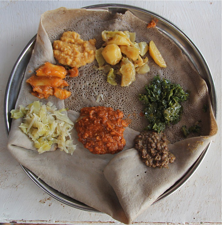 Injera traditional ethiopian food sour sponge at kons for Authentic ethiopian cuisine