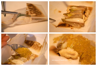 Endive in Papillote with slow motion caviar and walnuts 9in | by yumcat