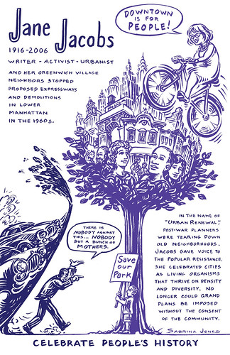 Jane Jacobs , Celebrate People's History Poster and Book | by Janet Bike Girl