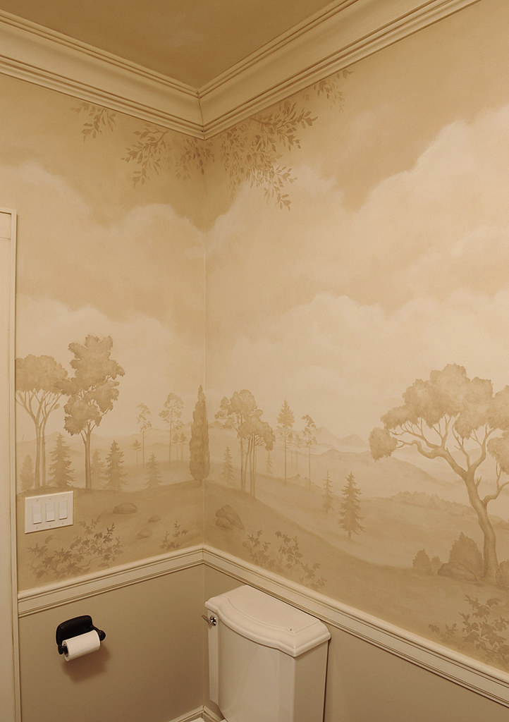 Mural Bath Using Stencils Beautiful Wall Stencils By Cutt