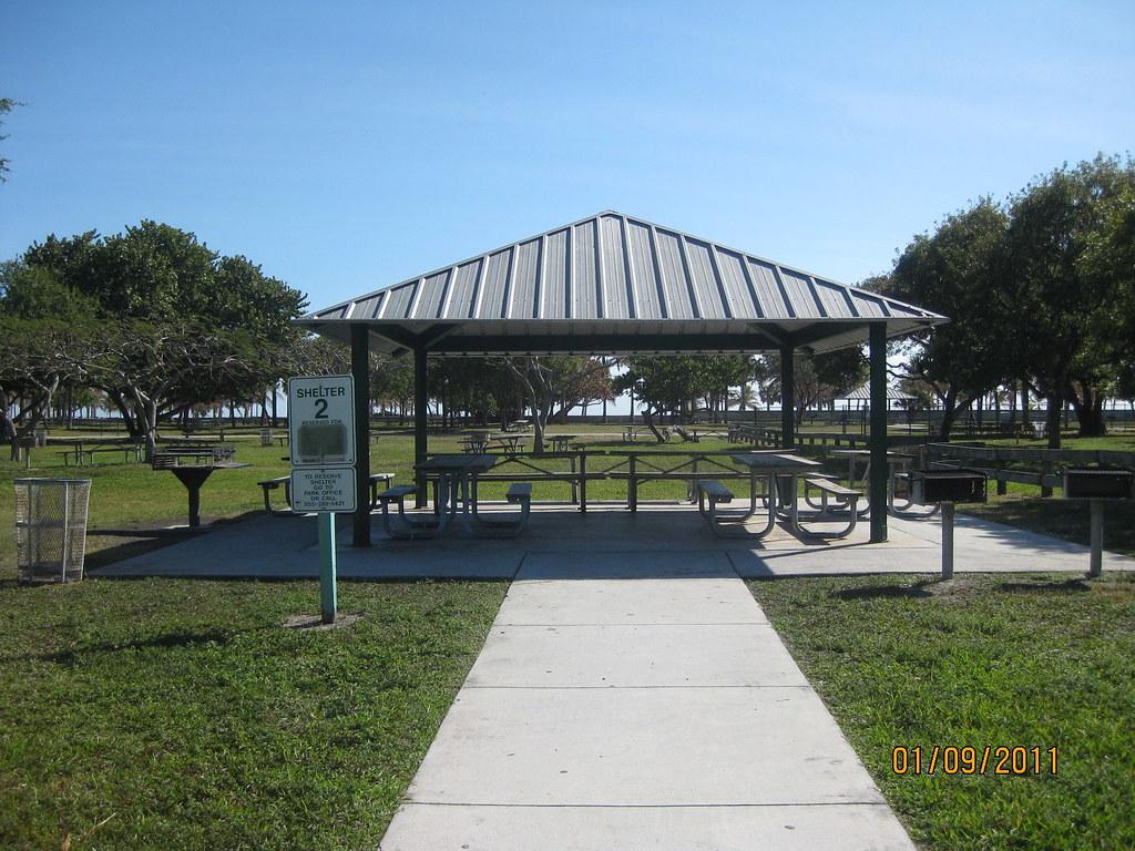 Small Park Shelters : Crandon park shelter small location