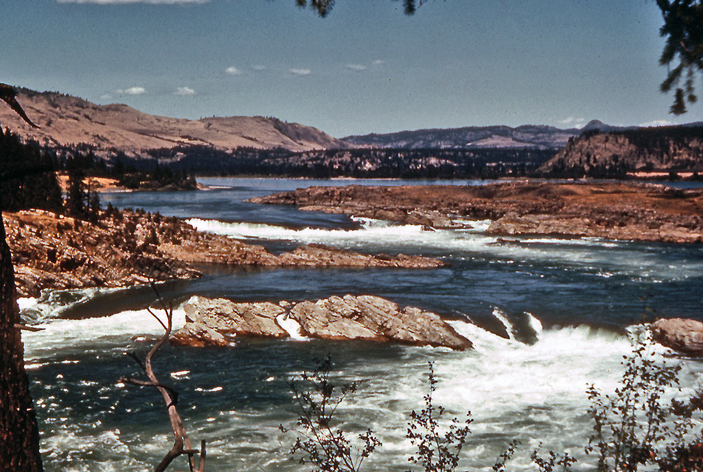 Kettle Falls Washington ~ Kettle falls pre coulee dam columbia river washington c