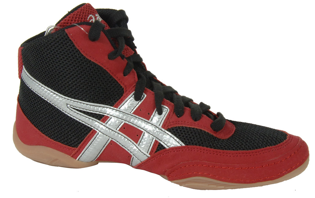 Black And Red Asics Wrestling Shoes 2 Wrestling Shoe in Black