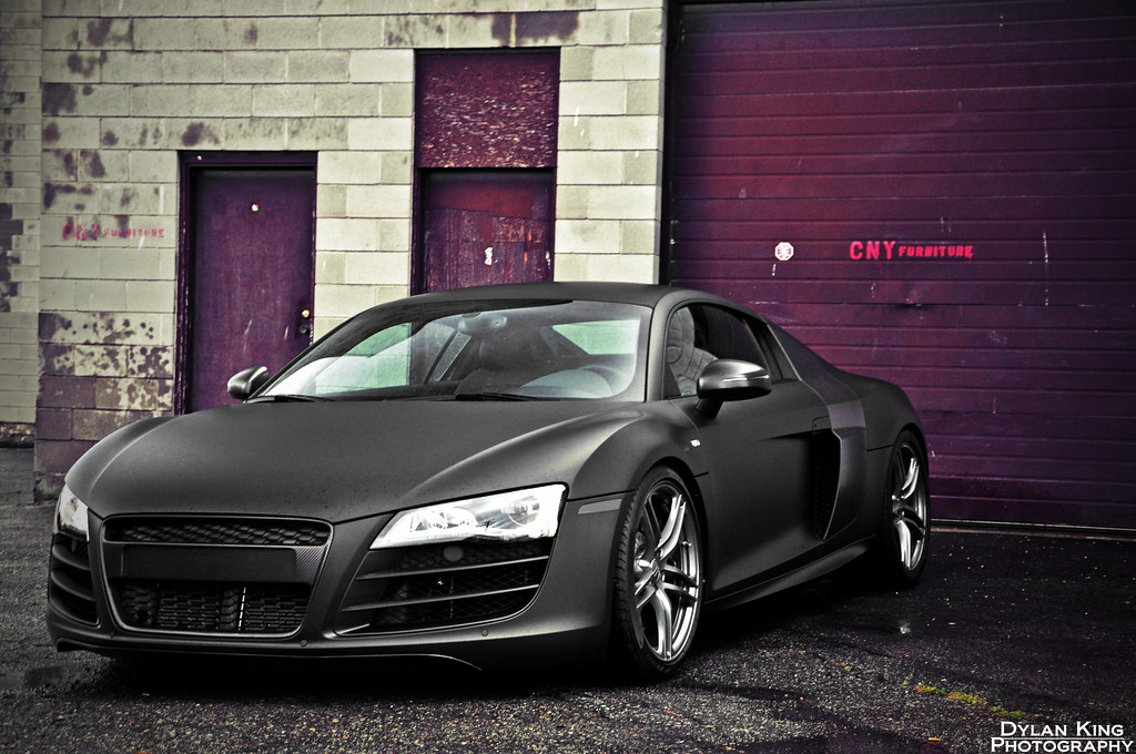 Matte Black Audi R8 V10 Tried Some New Editing For Me