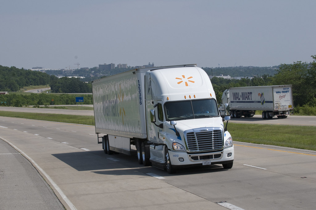walmart s aerodynamic trucks in addition to the more aerod flickr. Black Bedroom Furniture Sets. Home Design Ideas