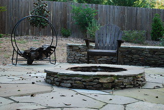 flagstone fire pit in fall | by The Estate of Things
