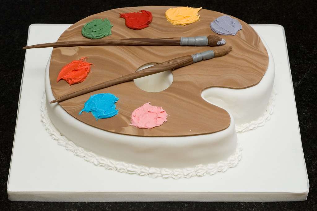 Cake Artist : Artist s Palette Cake Joanne McDonald Flickr