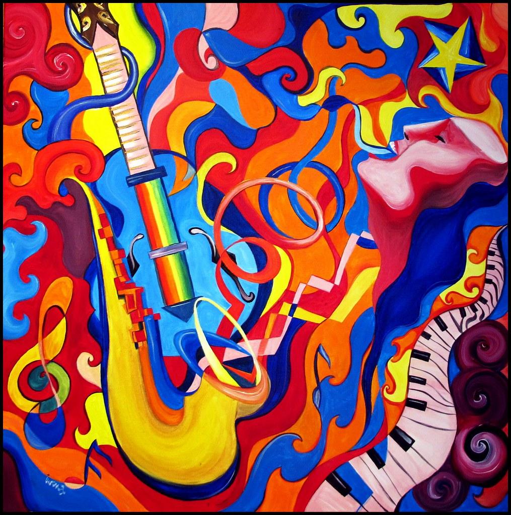 Jazz Fusion Acrylic On Canvas 80cm X 80cm 169 2011 Iwona
