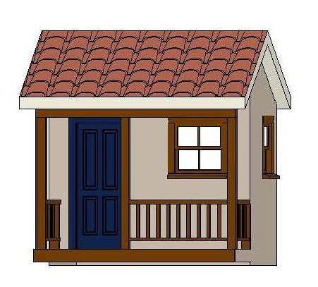 Pdf diy easy playhouse plans free download easy for Free playhouse blueprints