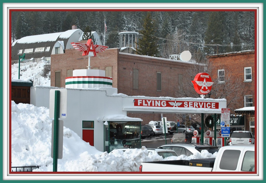 Gas Stations In California >> Flying 'A' Gas Station Truckee Ca. | Seen From the ...