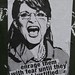 Sarah Palin fear poster by Eddie Colla on streets of San Francisco 4
