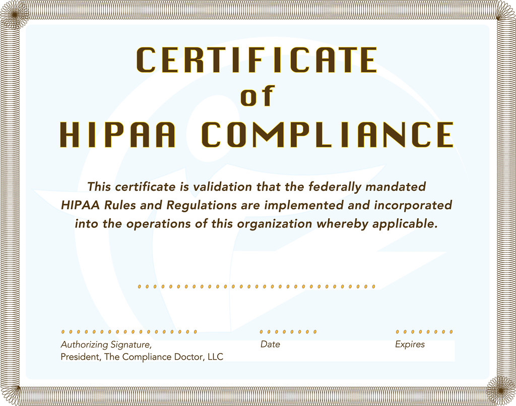 HIPAA Certificate | troylair | Flickr