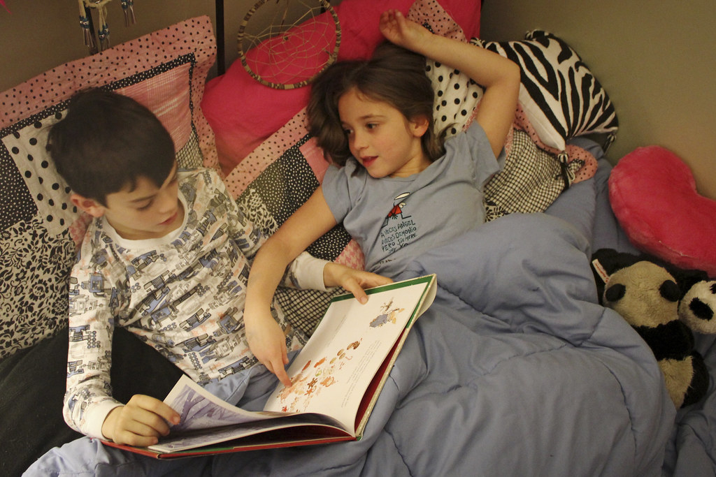 Slumber Party, With A Book  Surprise Overnight Guest, And -9054